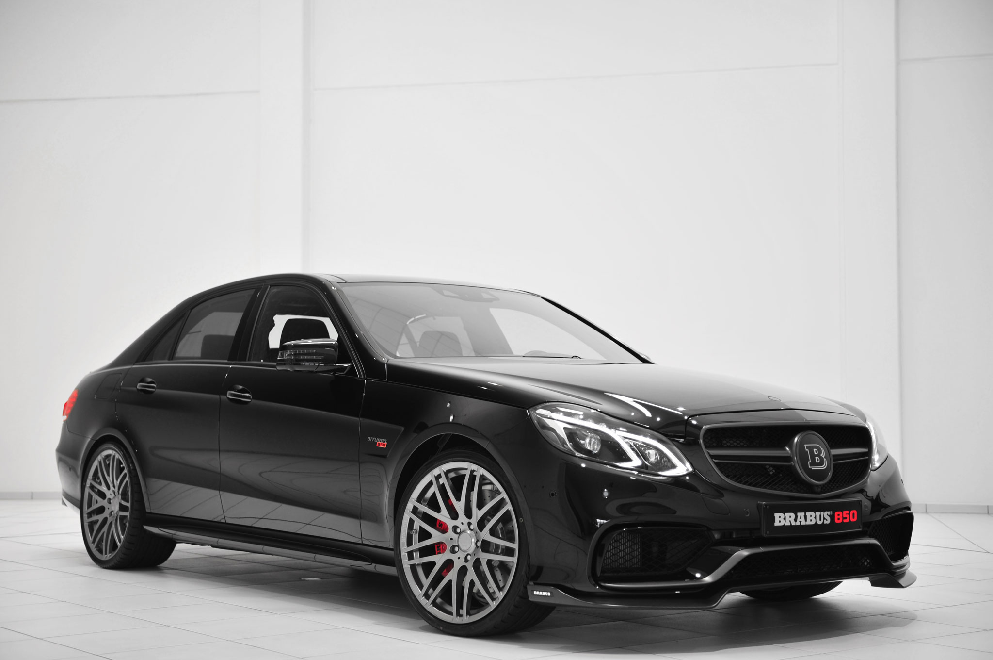 Brabus 850 60 Biturbo Front Side View In Black1