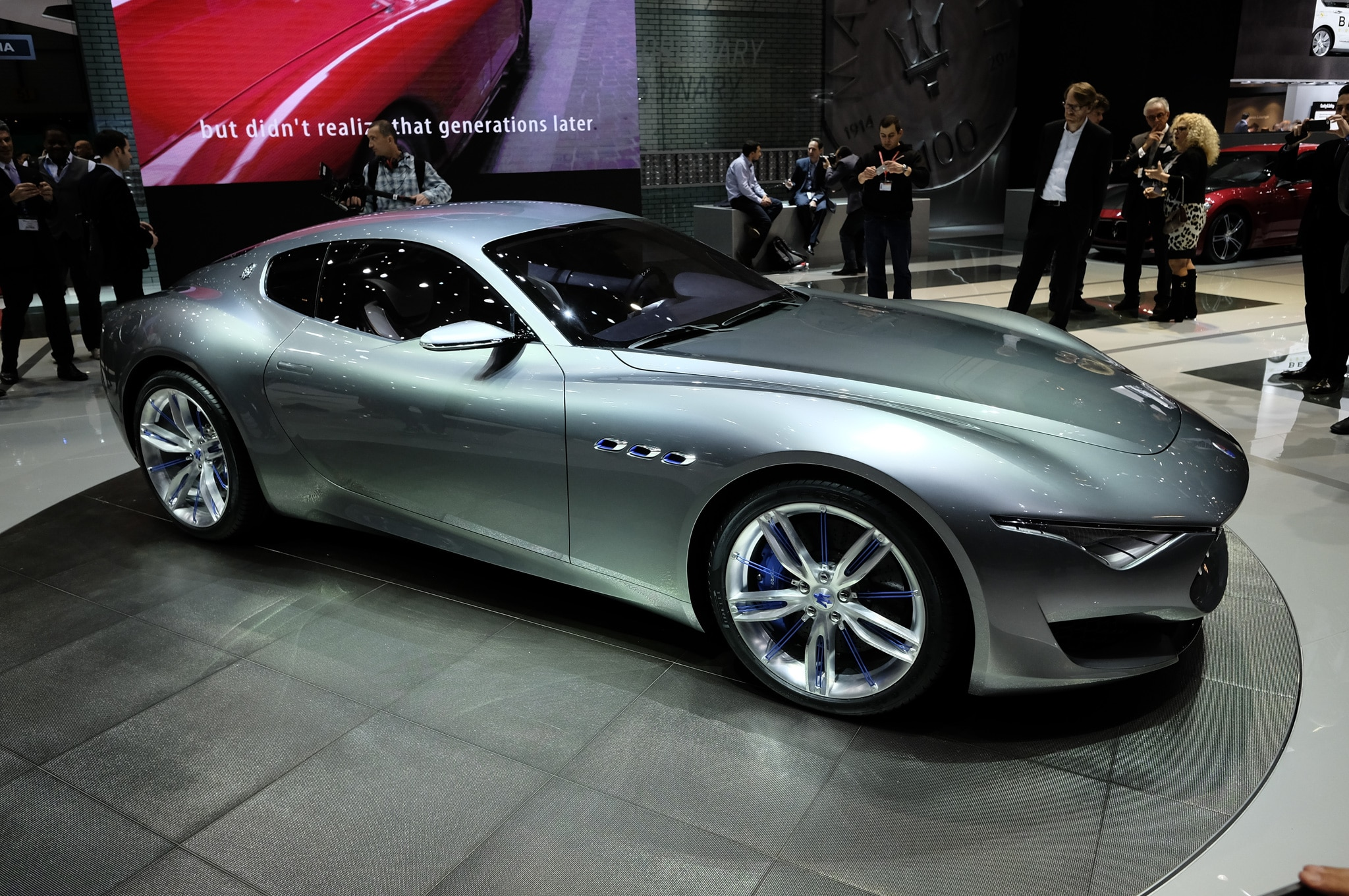 Maserati Alfieri Concept Show Floor Side Front View1