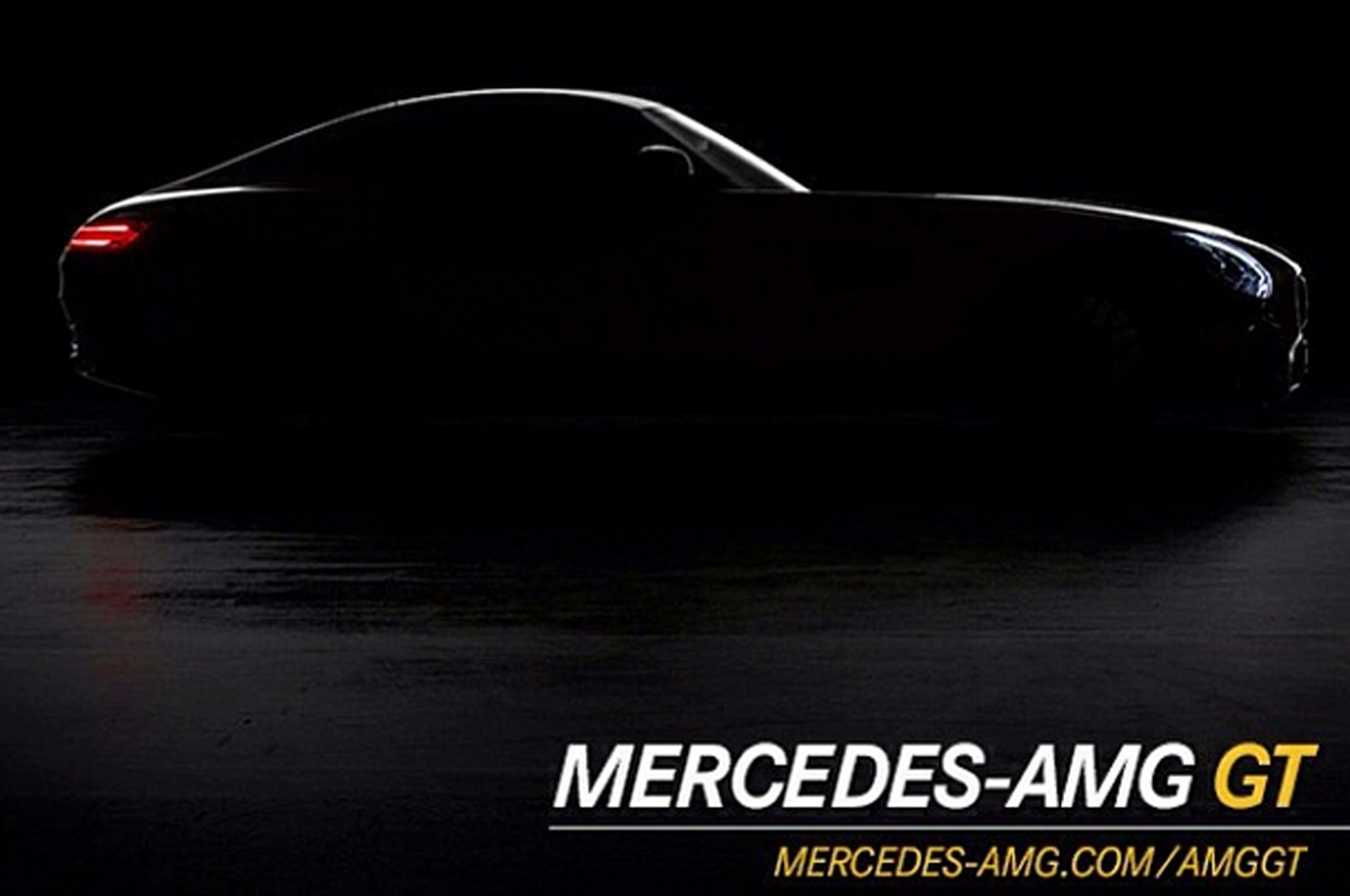 Mercedes AMG GT Teaser Photo Side View1