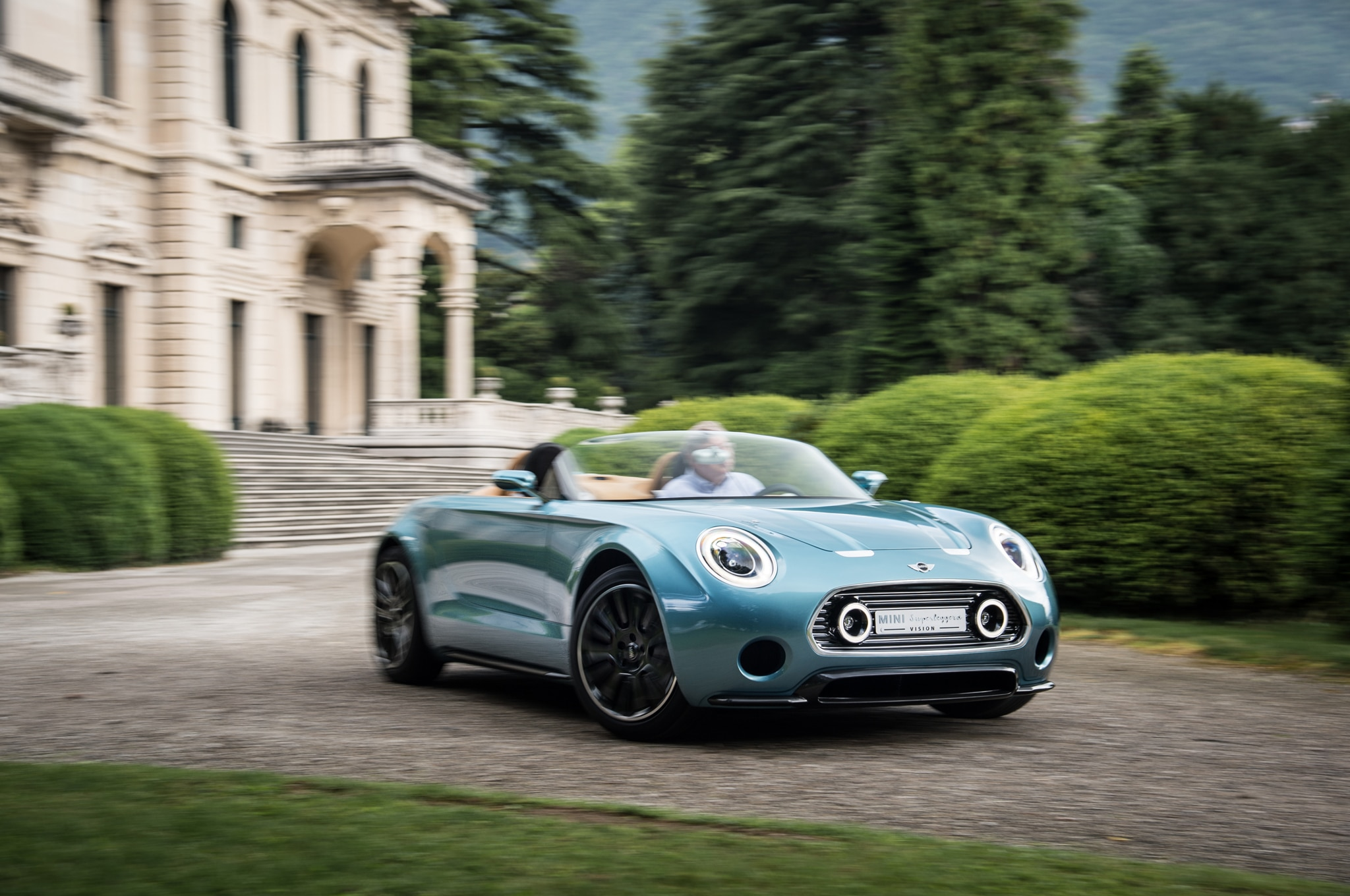 Mini Superleggera Vision Concept Front Three Quarter Turn