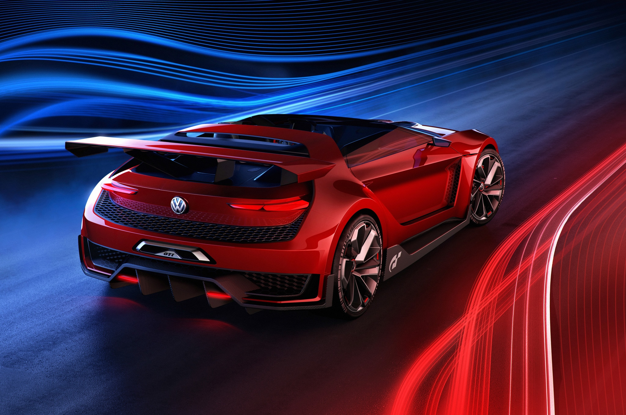 Volkswagen GTI Roadster Vision Gran Turismo Rear Side View1