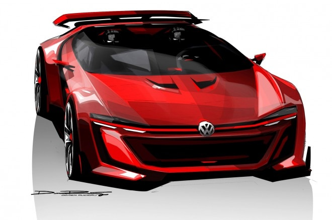 Volkswagen GTI Roadster Vision Gran Turismo Sketch Front View1 660x438