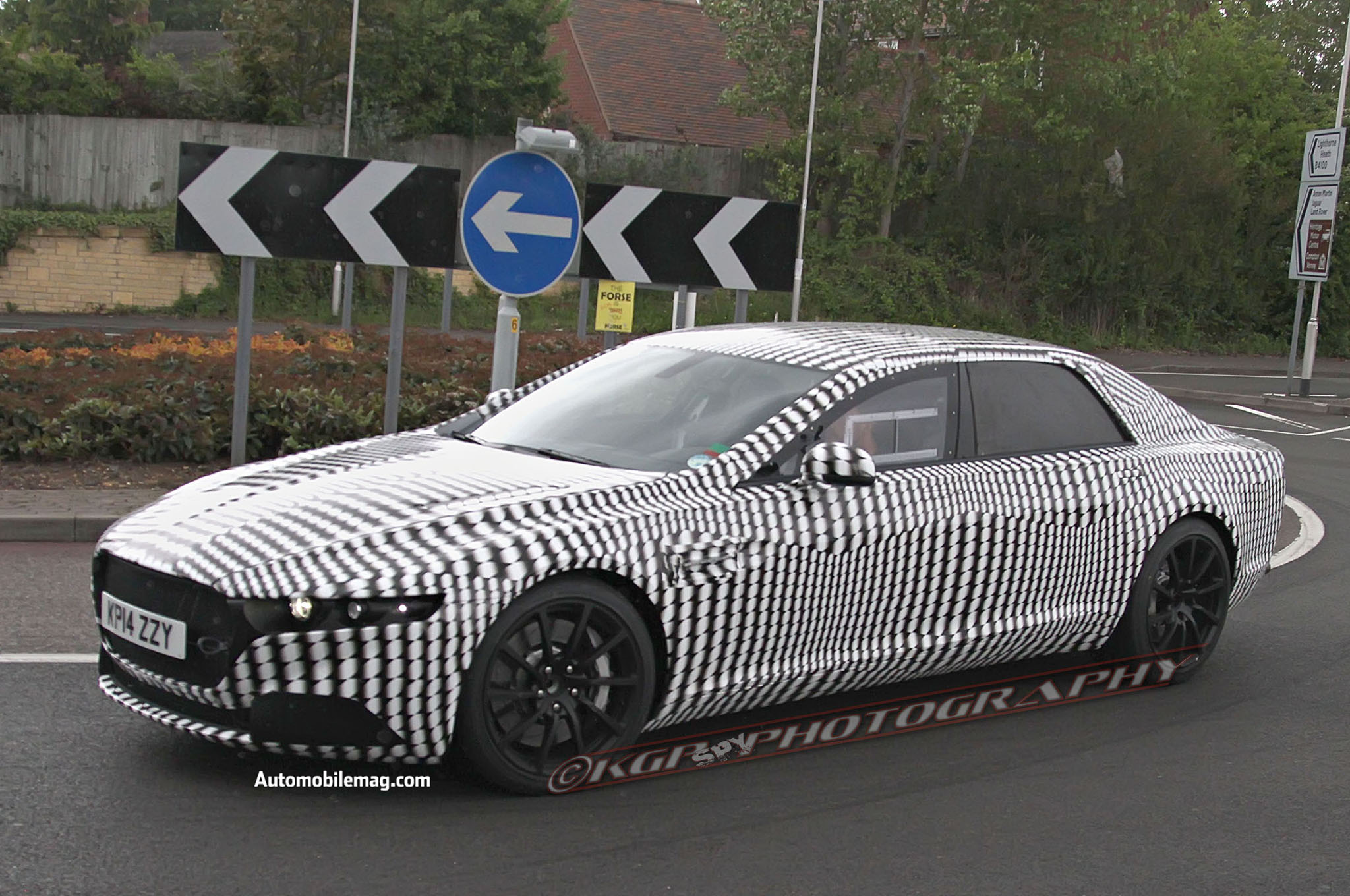 Aston Martin Sedan Prototype Spy Photos 05 Front Three Quarter1
