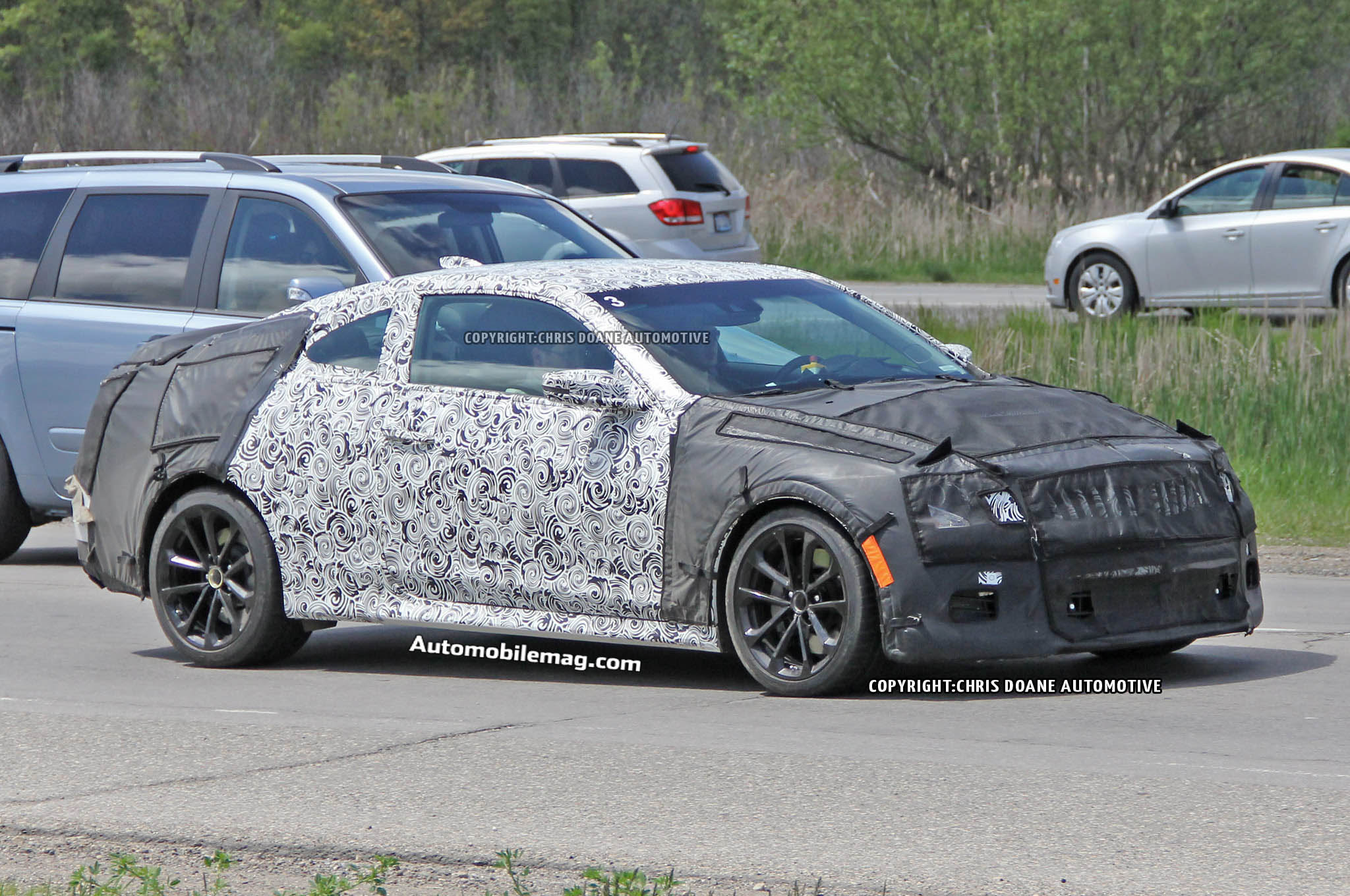 Cadillac Ats V Coupe Spied 03 Front Three Quarter1