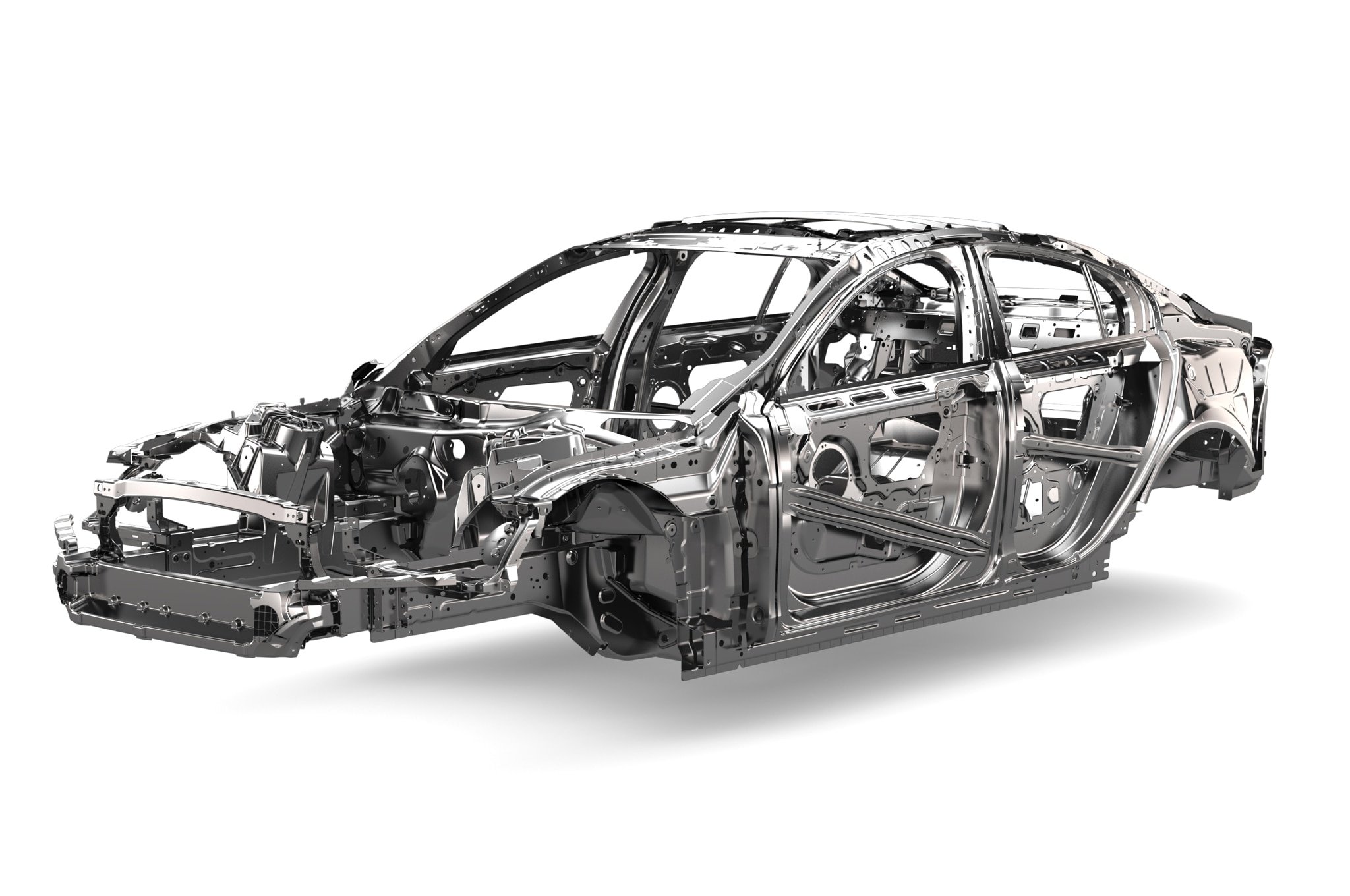 Jaguar xe previewed with wrapped chassis automobile magazine for Chassis aluminium