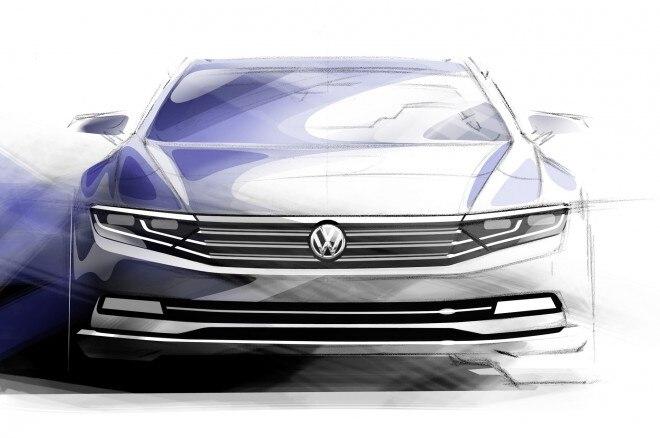 Volkswagen Passat Europe Tech Preview 01 Sketch Front1 660x438