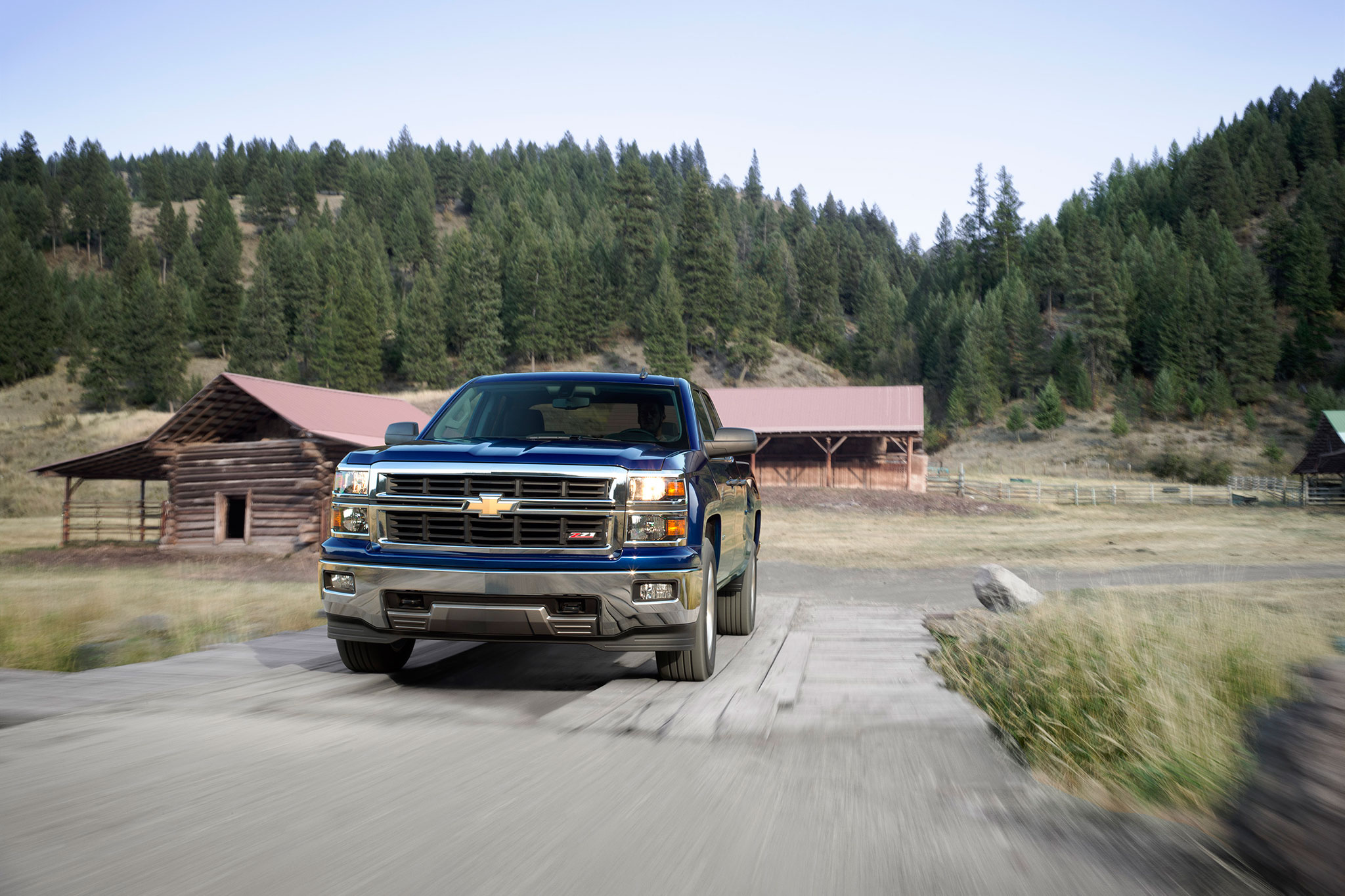 2014 Chevrolet Silverado LT Front View In Motion1