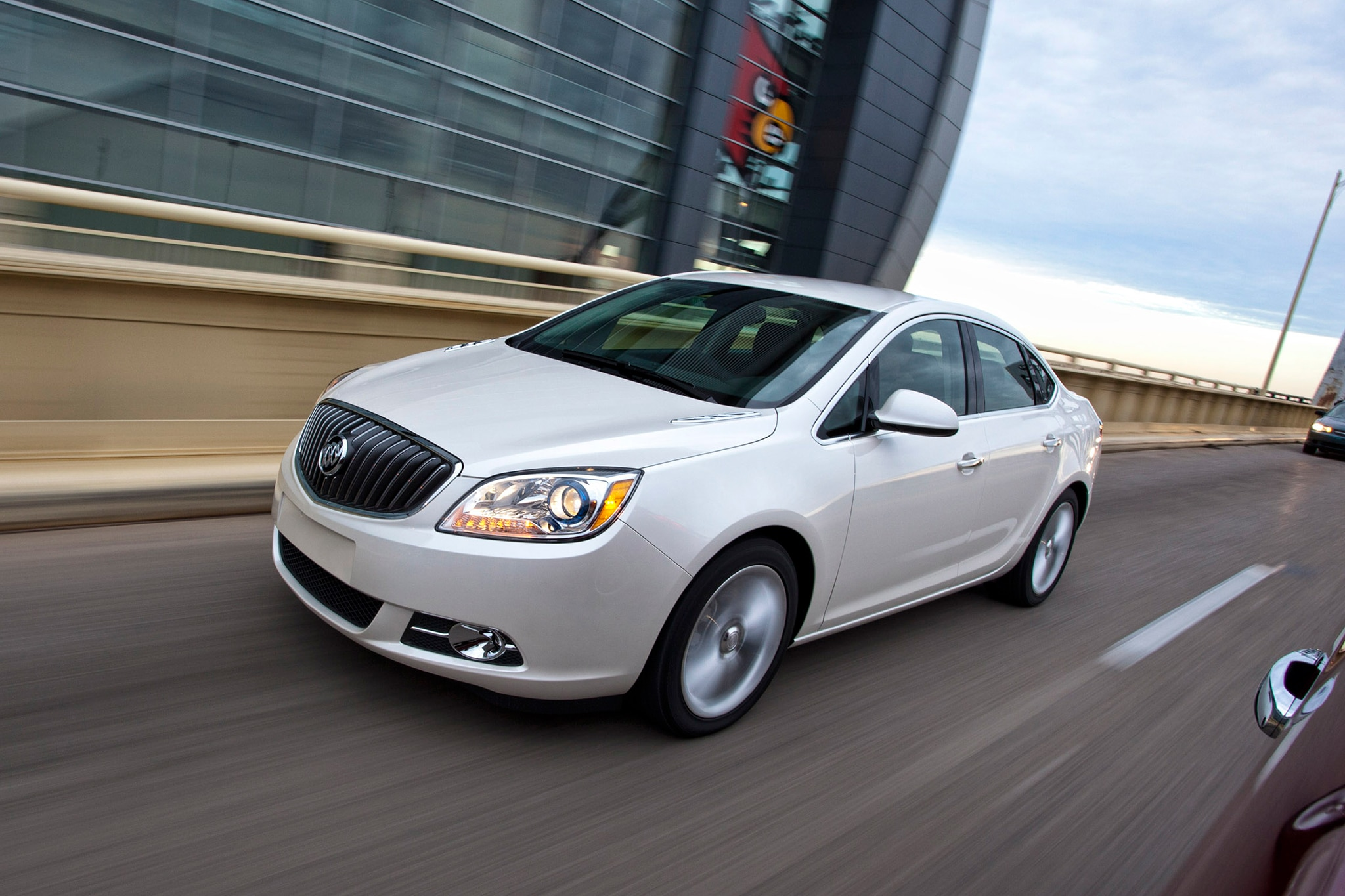 2014 Buick Verano Turbo In Motion Three Quarters2