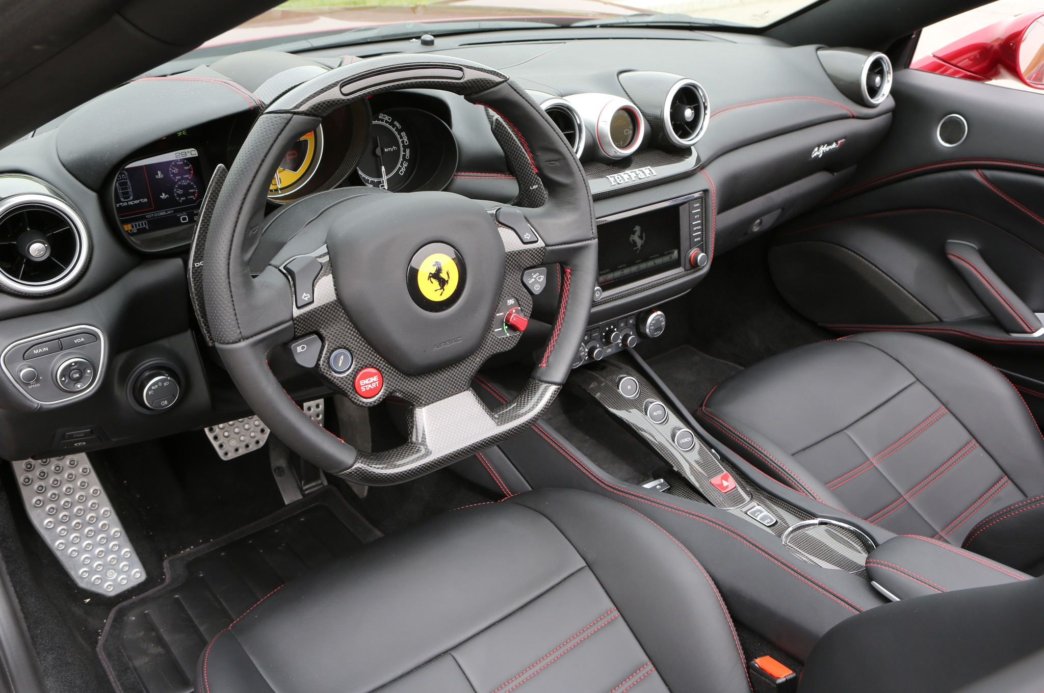 2015 ferrari california t interior in black - 2014 Ferrari 458 Italia Interior