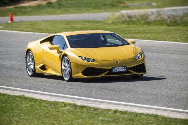 2015 Lamborghini Huracan LP 610 4 Track Yellow Front Three Quarter In Motion 660x440