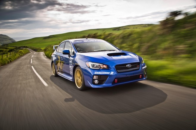 2015 Subaru WRX STI At Isle Of Man Front Side View2 660x438