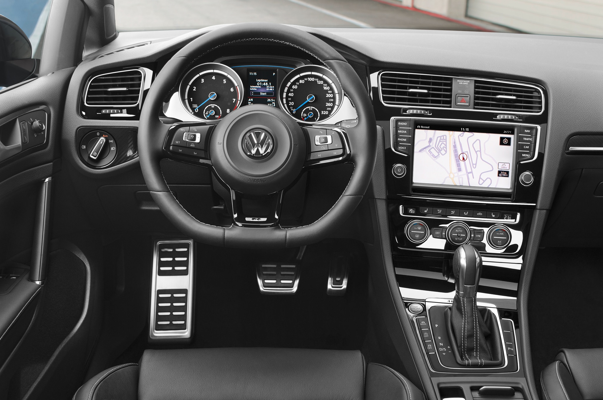 Auto cockpit vw  2015 Volkswagen Golf R Review - Automobile Magazine