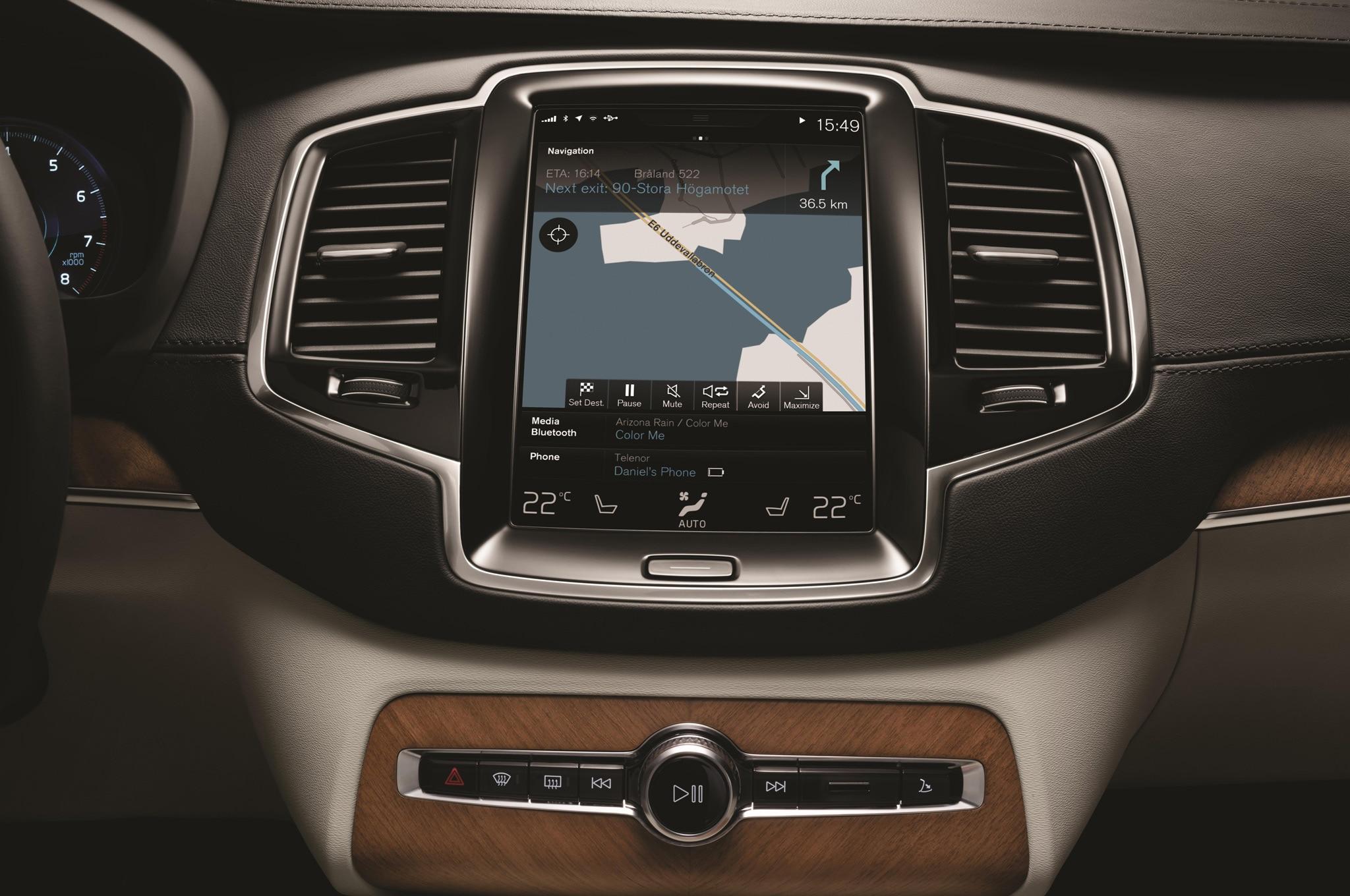 2015 volvo xc90 infotainment screen shown automobile. Black Bedroom Furniture Sets. Home Design Ideas