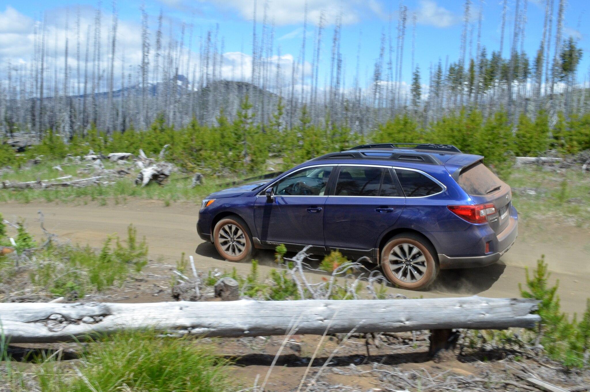 2015 Subaru Outback Rear Three Quarter Blue