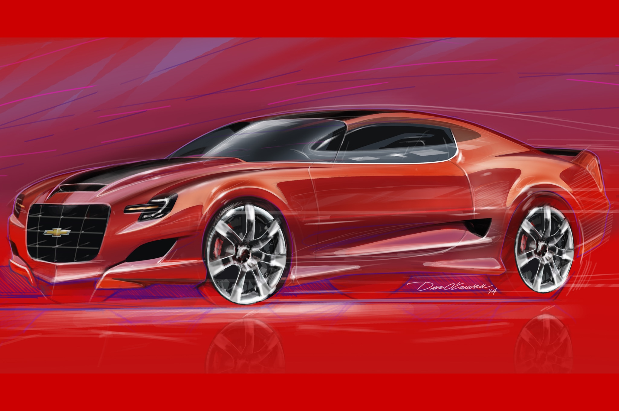 2016 Chevy Camaro Illustration