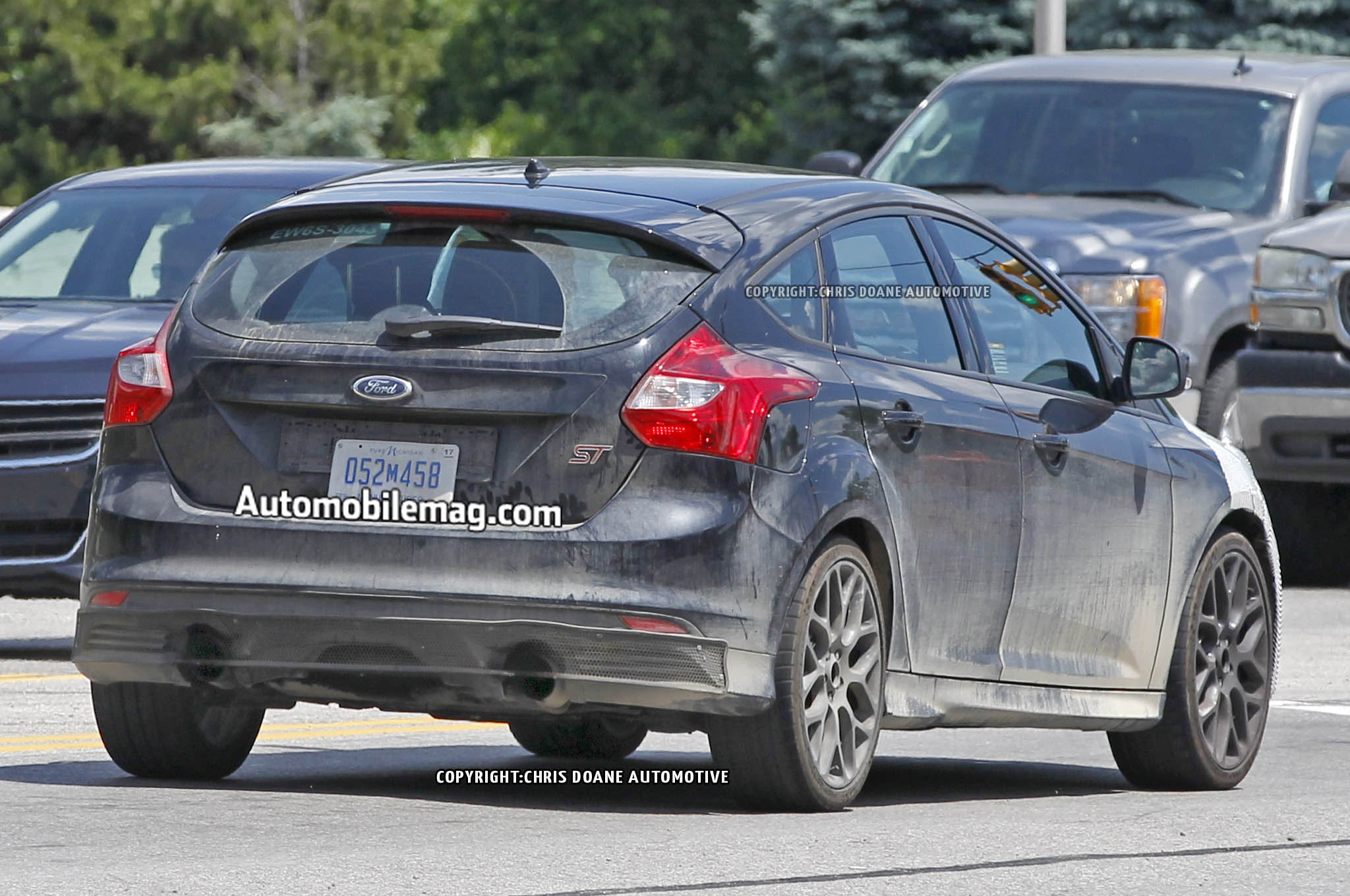 2016 Ford Focus Rs Spied Rear Three Quarter 1