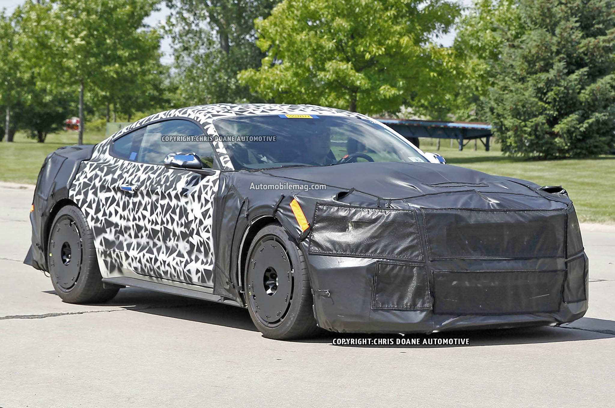 2016 Ford Mustang Svt Spied Front Three Quarters 051