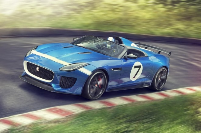 Jaguar Project 7 Concept Front Three Quarter Motion 21 660x438