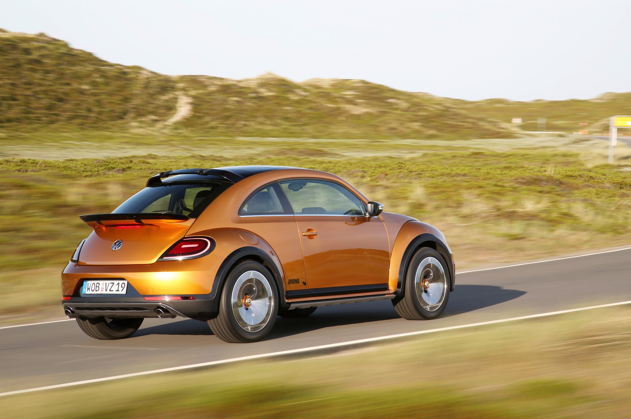 Volkswagen Beetle Dune Concept Rear Three Quarter View In Motion1
