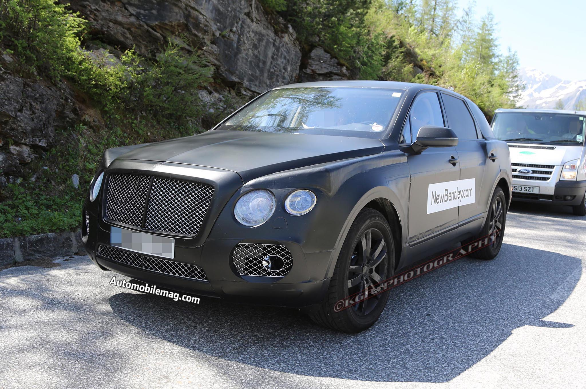 bentley suv spied testing automobile magazine. Black Bedroom Furniture Sets. Home Design Ideas