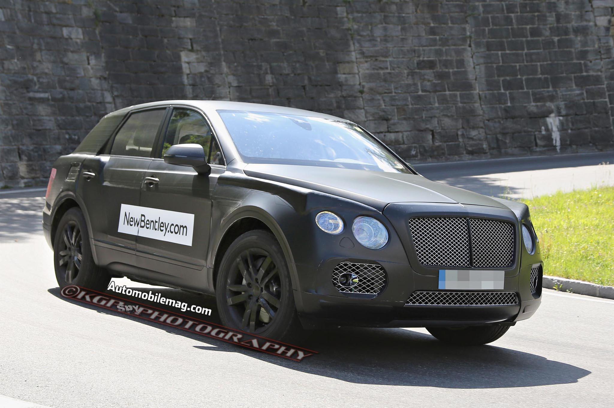 Bentley Suv Spied 15 Front Three Quarter1