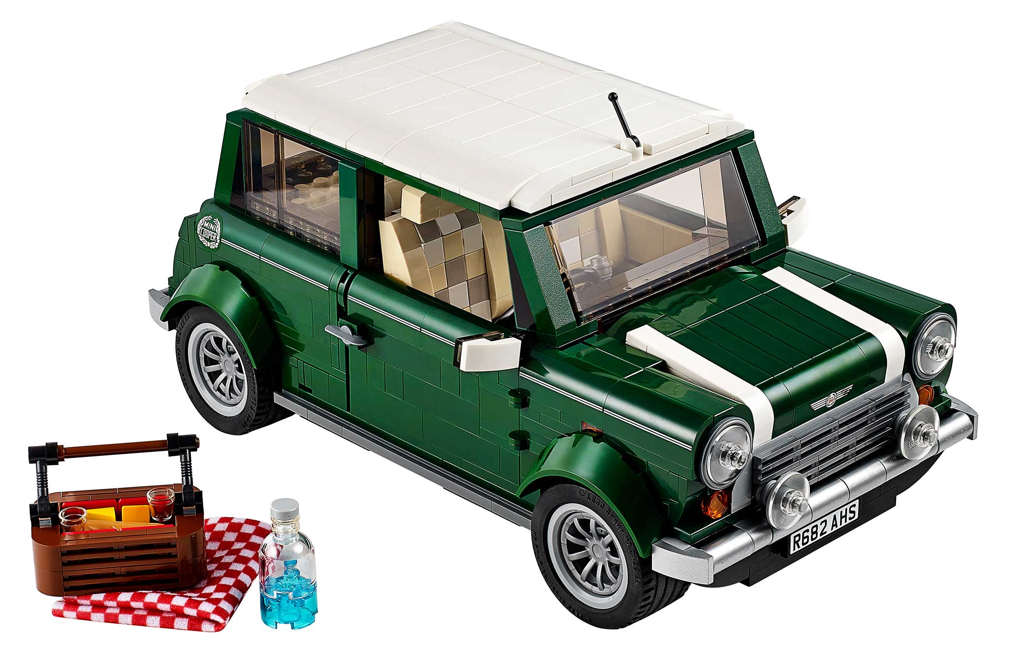 Mini Cooper Lego Model Front Three Quarter With Picnic1