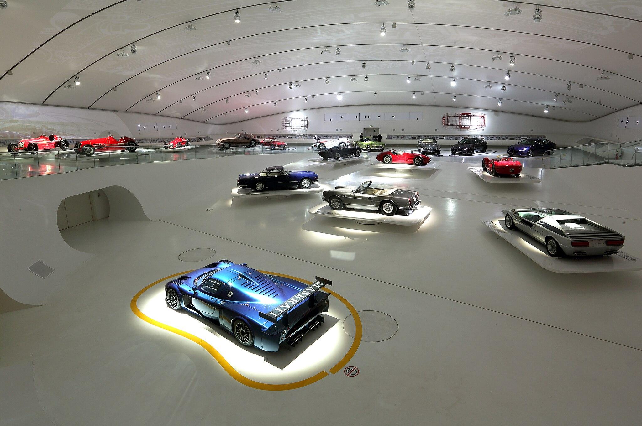 100 Years Of Maserati Museum Exhibiti