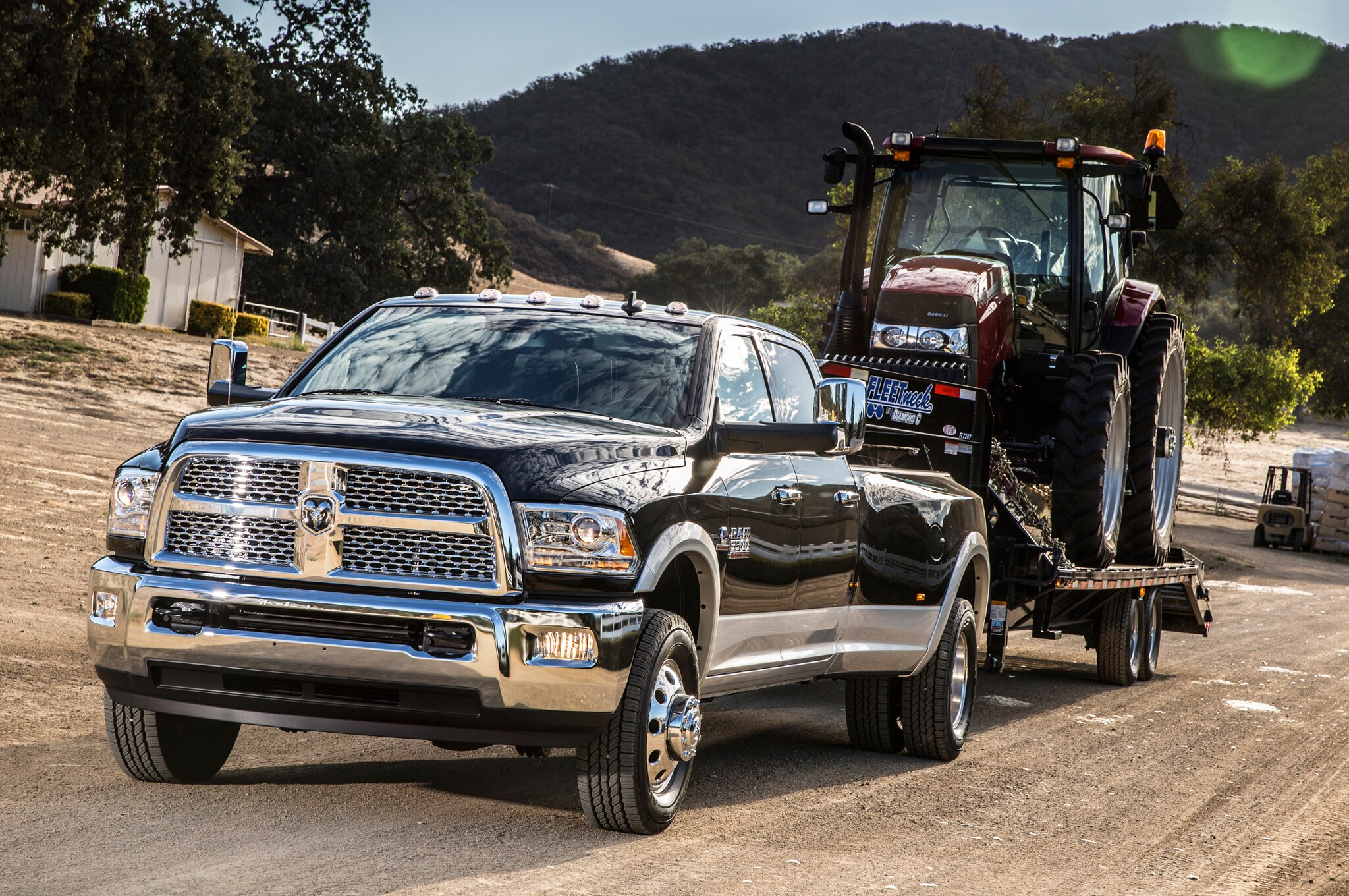 2014 Ram 3500 Heavy Duty Dualie Laramie Towing1