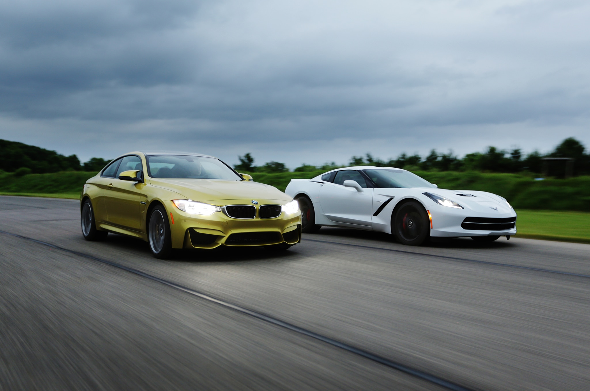 2014 Chevrolet Corvette 2015 Bmw M4 On Track 1