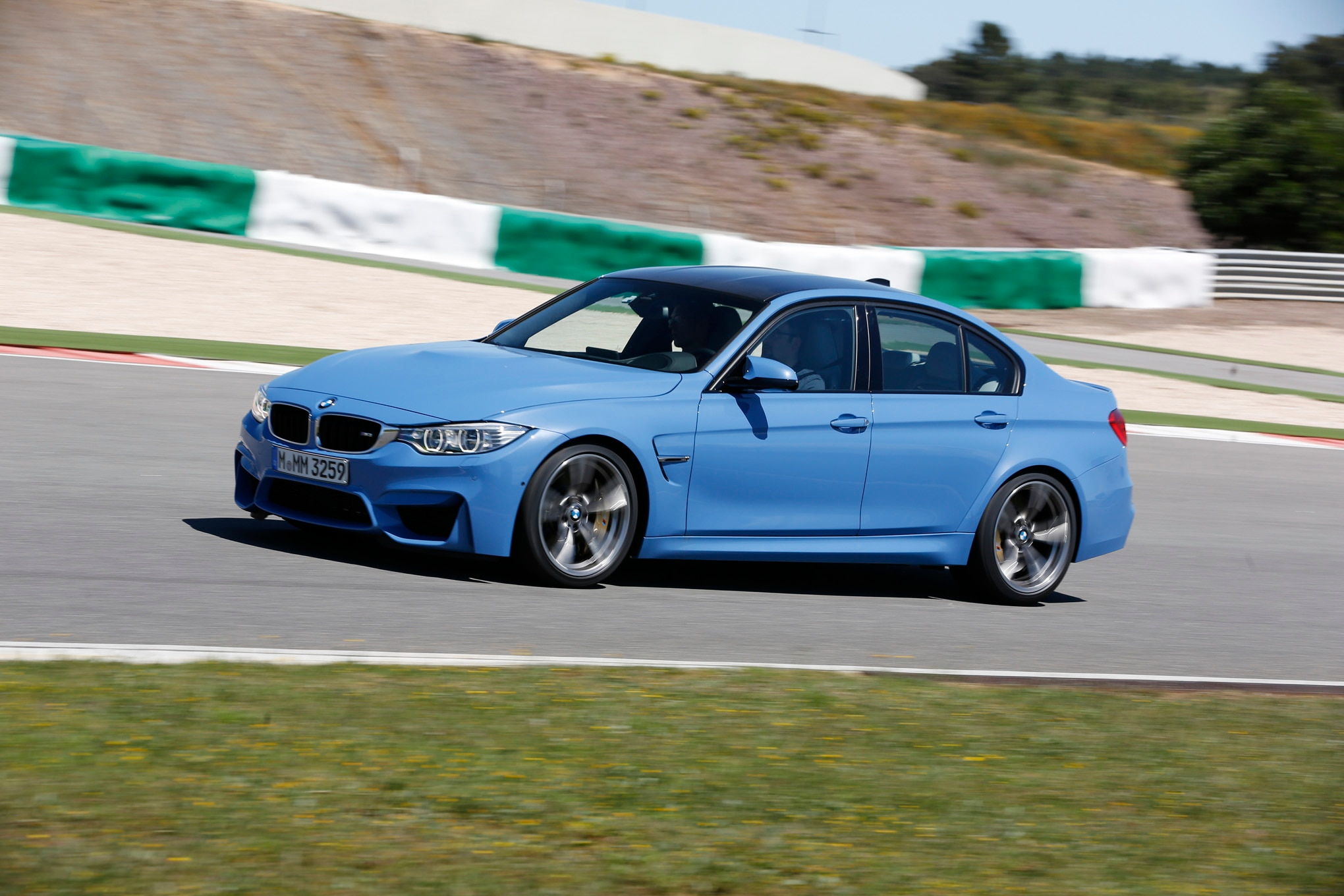 2015 BMW M3 Racetrack Side In Motion