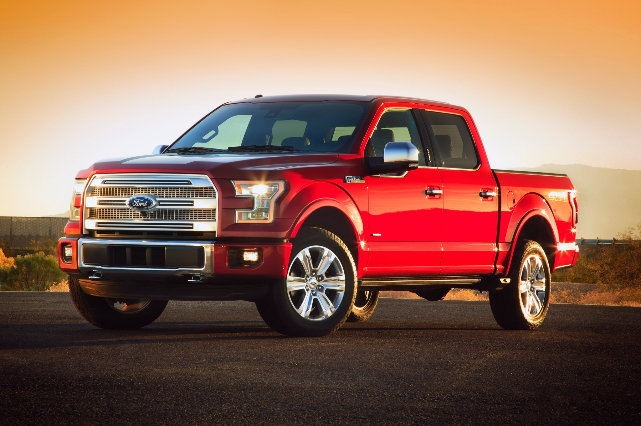 2015 Ford F 150 Front Three Quarters4