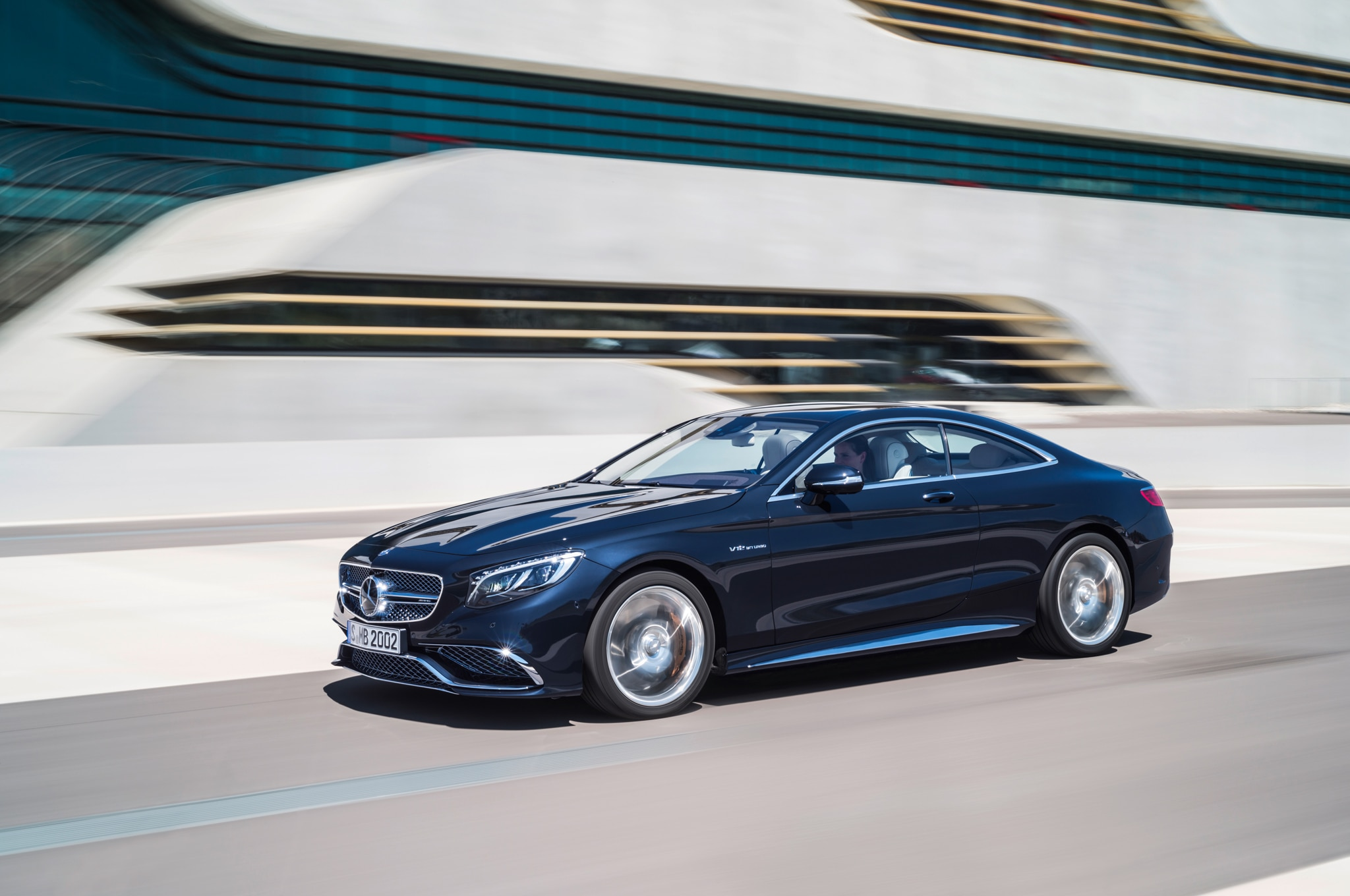 2015 Mercedes Benz S65 AMG Coupe Front Three Quarter In Motion 03