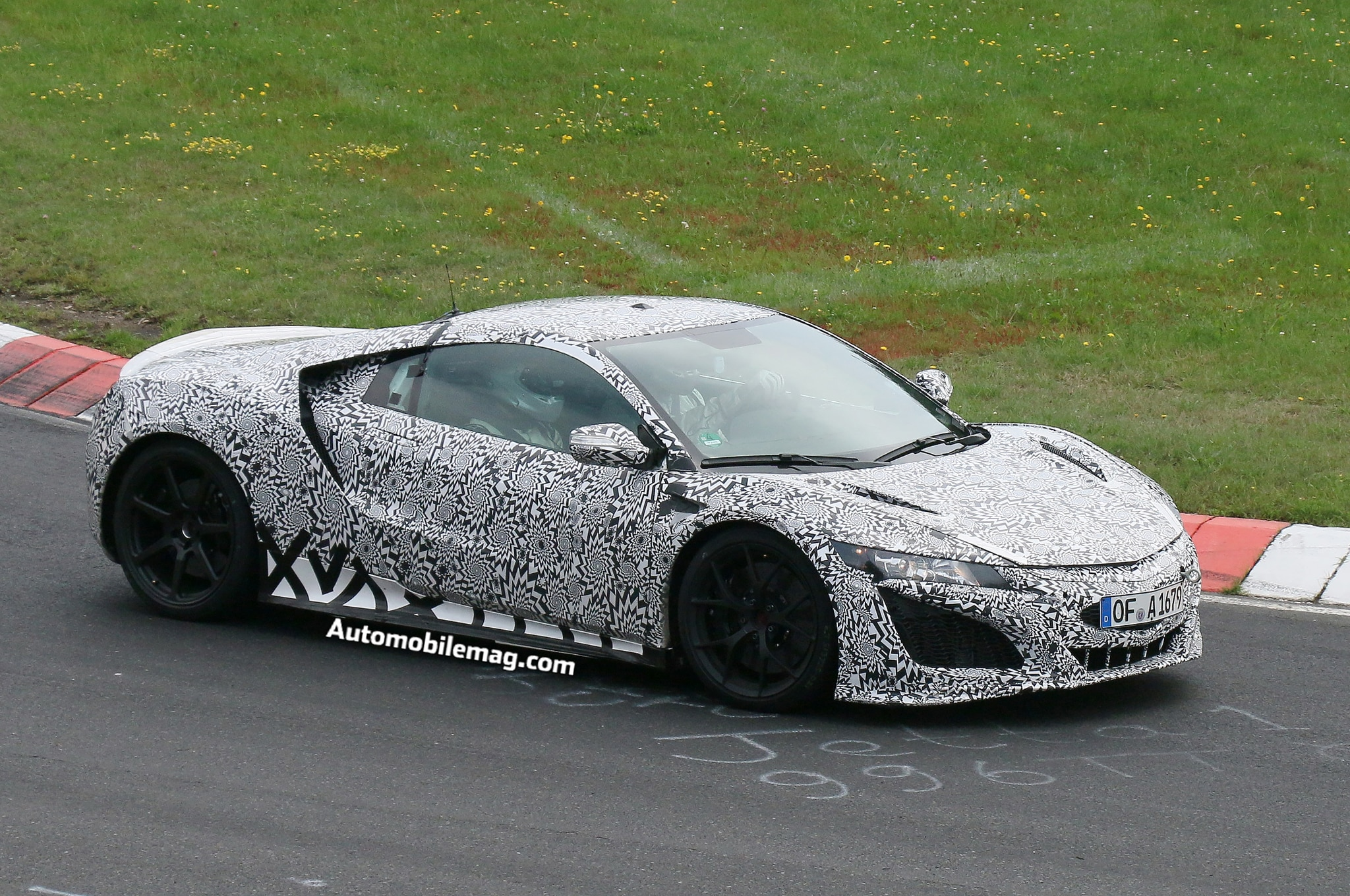 2015 acura nsx prototype burns at the nurburgring. Black Bedroom Furniture Sets. Home Design Ideas