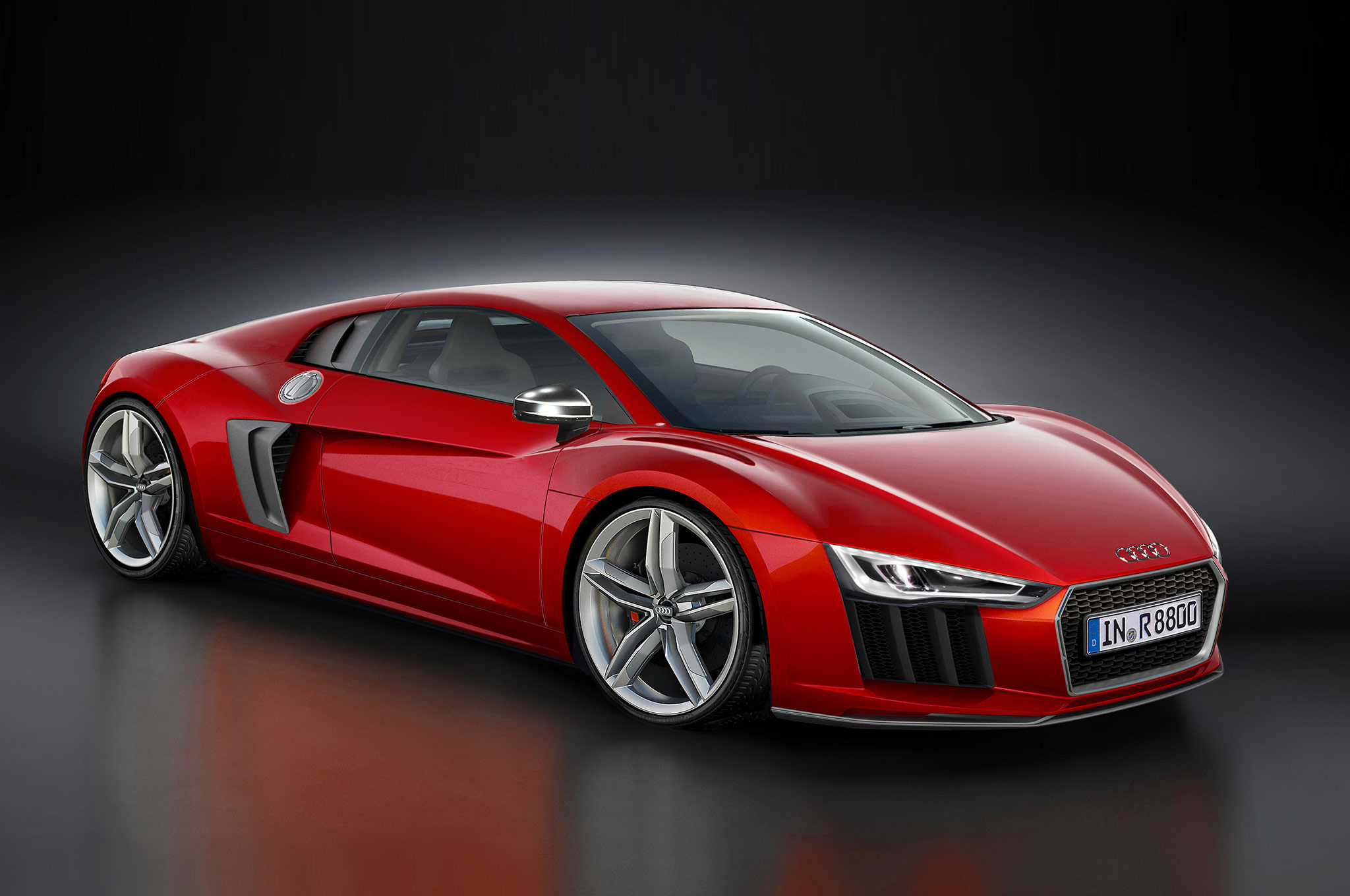2016 Audi R8 Rendering Front Three Quarter