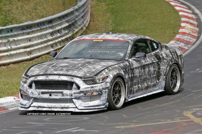 2016 Ford Mustang Svt Spied Nurburgring Front Three Quarters 031 660x438