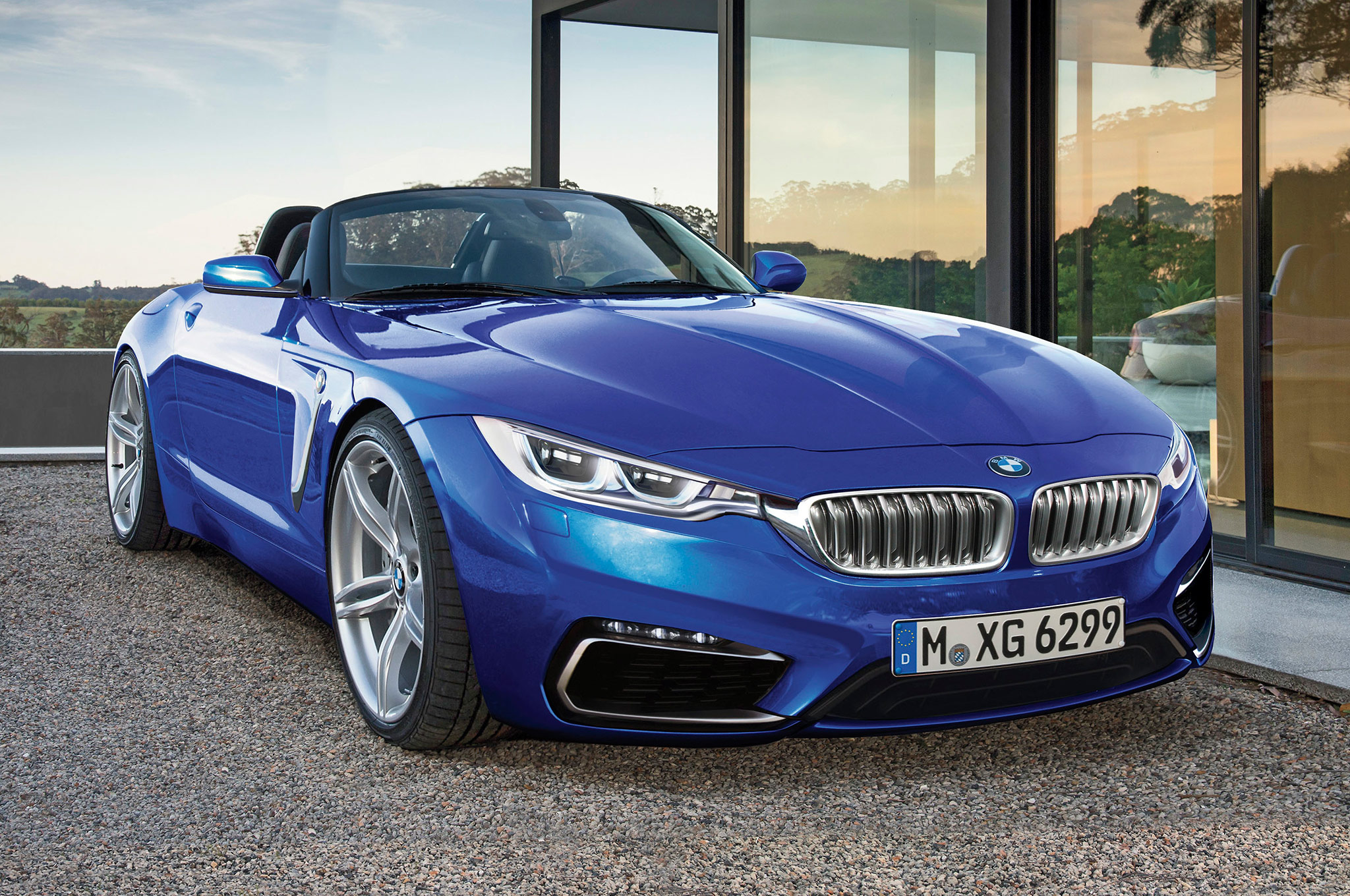 2018 Bmw Z5 Rendering Front Three Quarter