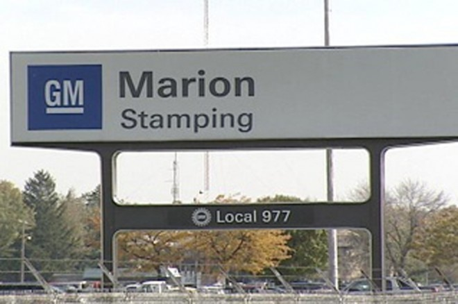 GM Marion Stamping Plant Sign 660x438