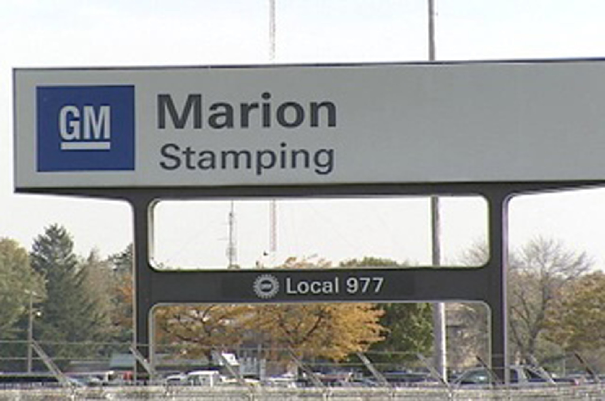 GM Marion Stamping Plant Sign