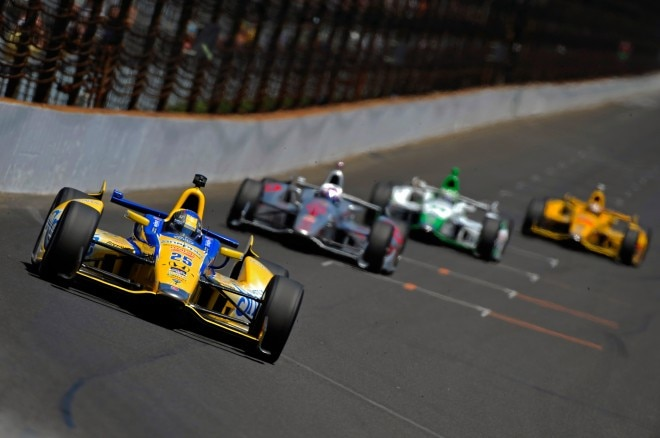 Indianapolis 500 Race front end in motion