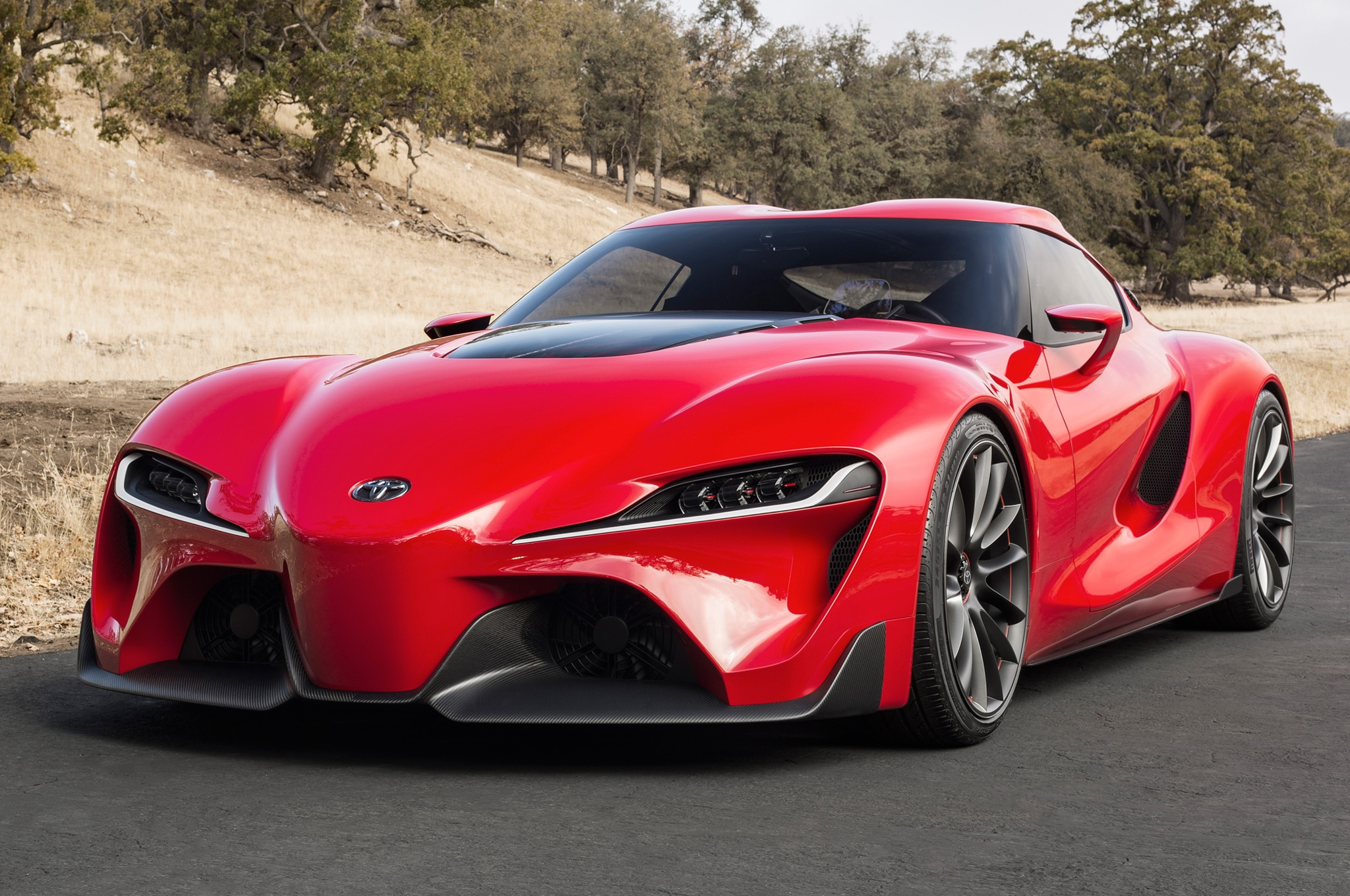 Toyota FT 1 Concept Front Three Quarters View On Road1