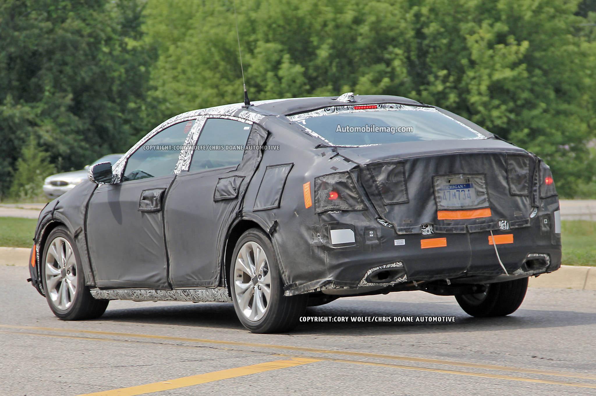 Chevrolet Malibu Refresh Spied Rear Three Quarters1