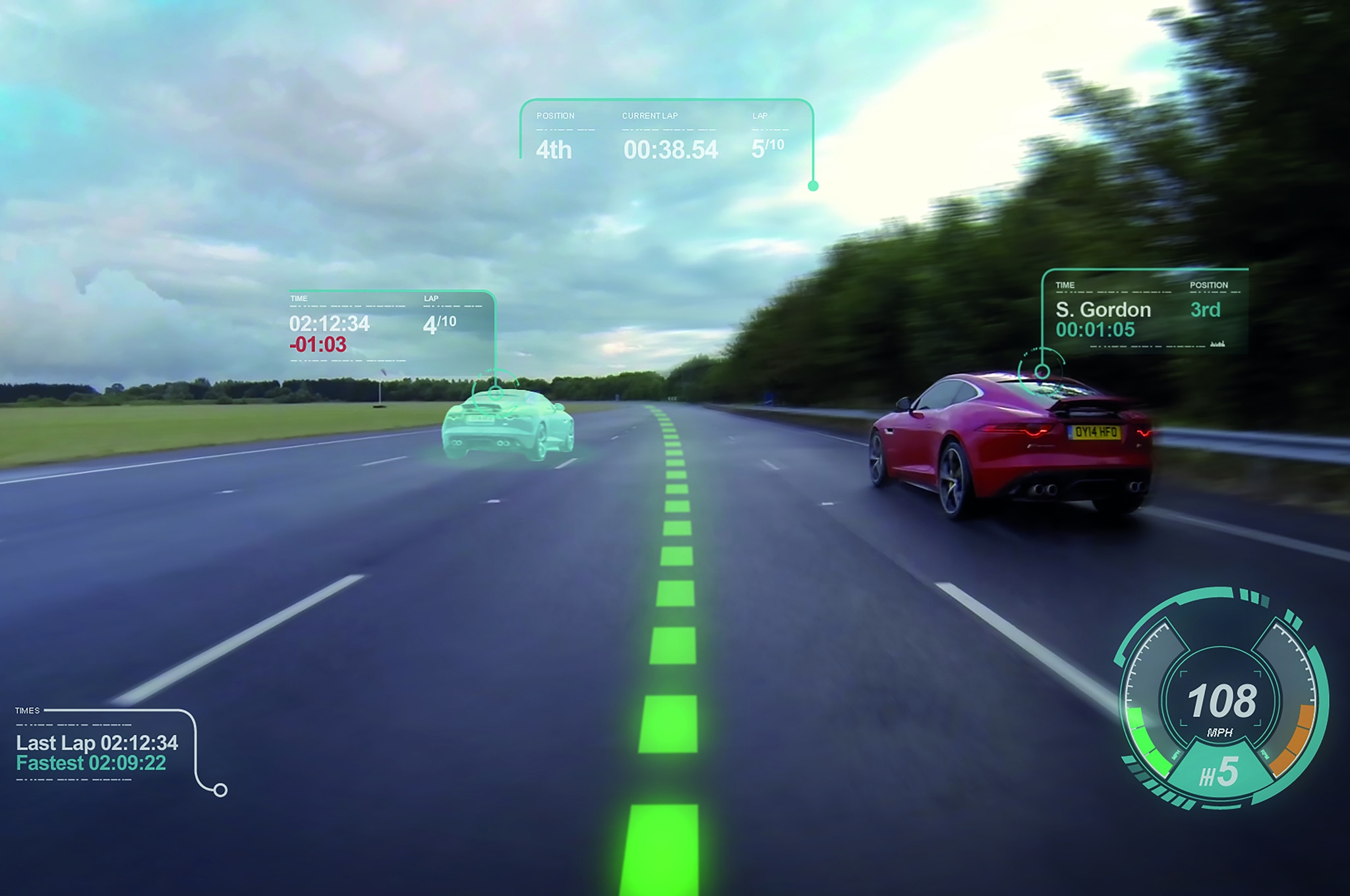 Jaguar Land Rover Virtual Windscreen