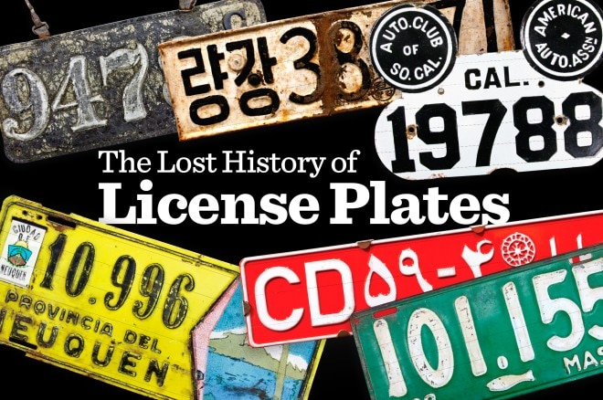 The Lost History Of License Plates Lead 660x438