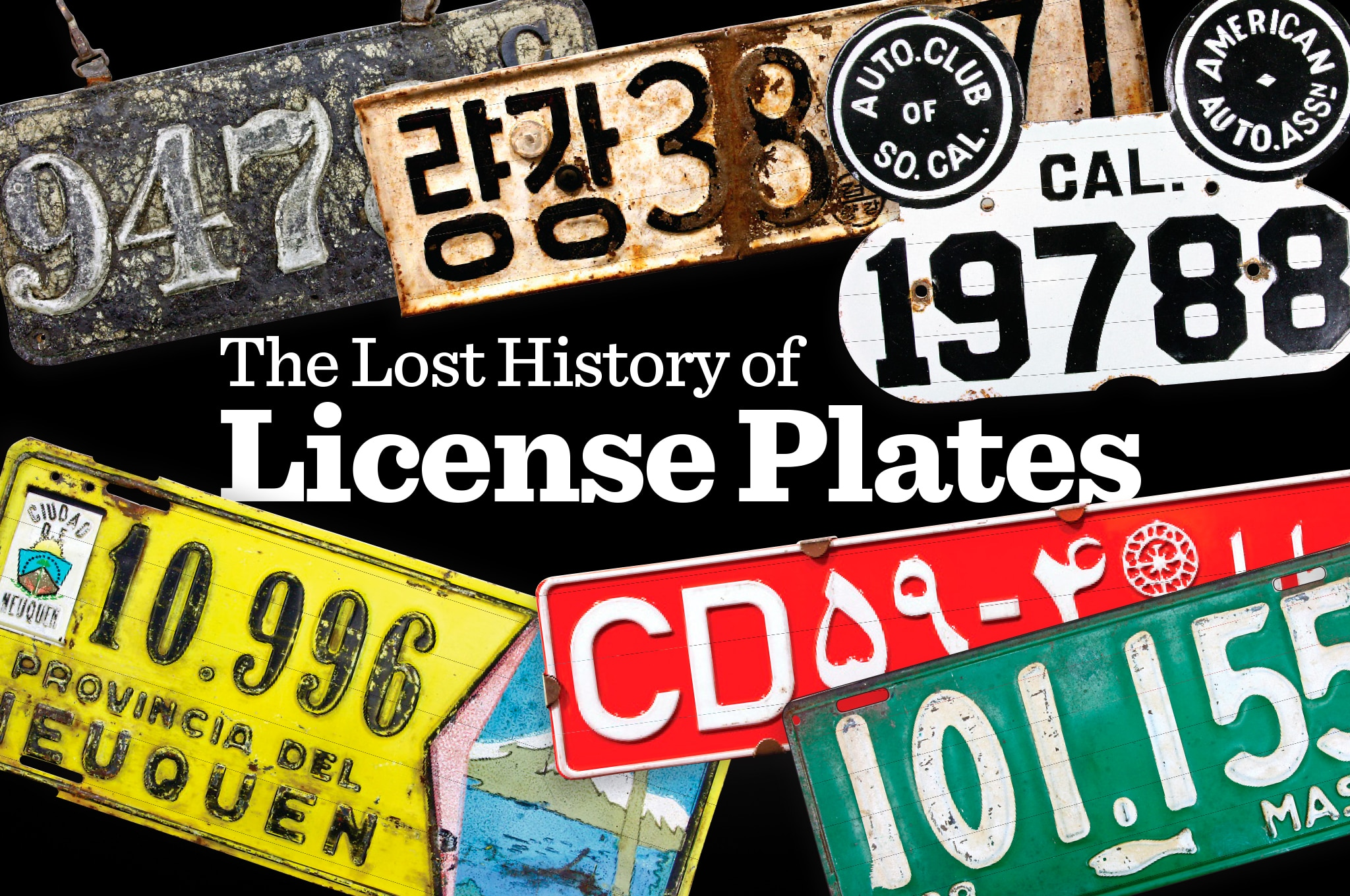 lost history  license plates