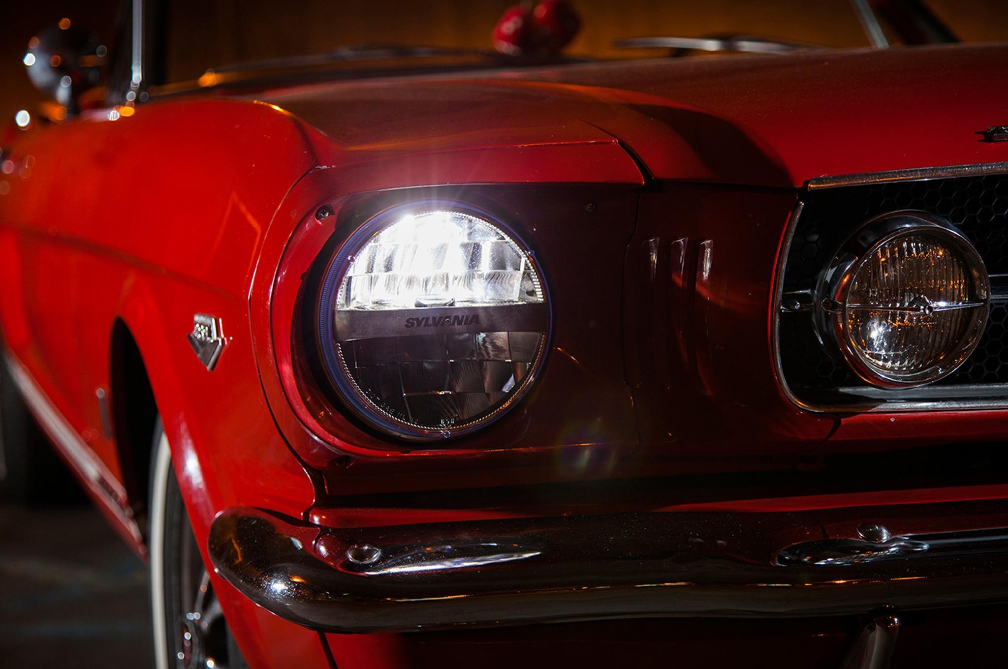 1965 Ford Mustang Sylvania Zevo LED Sealed Beam Headlights