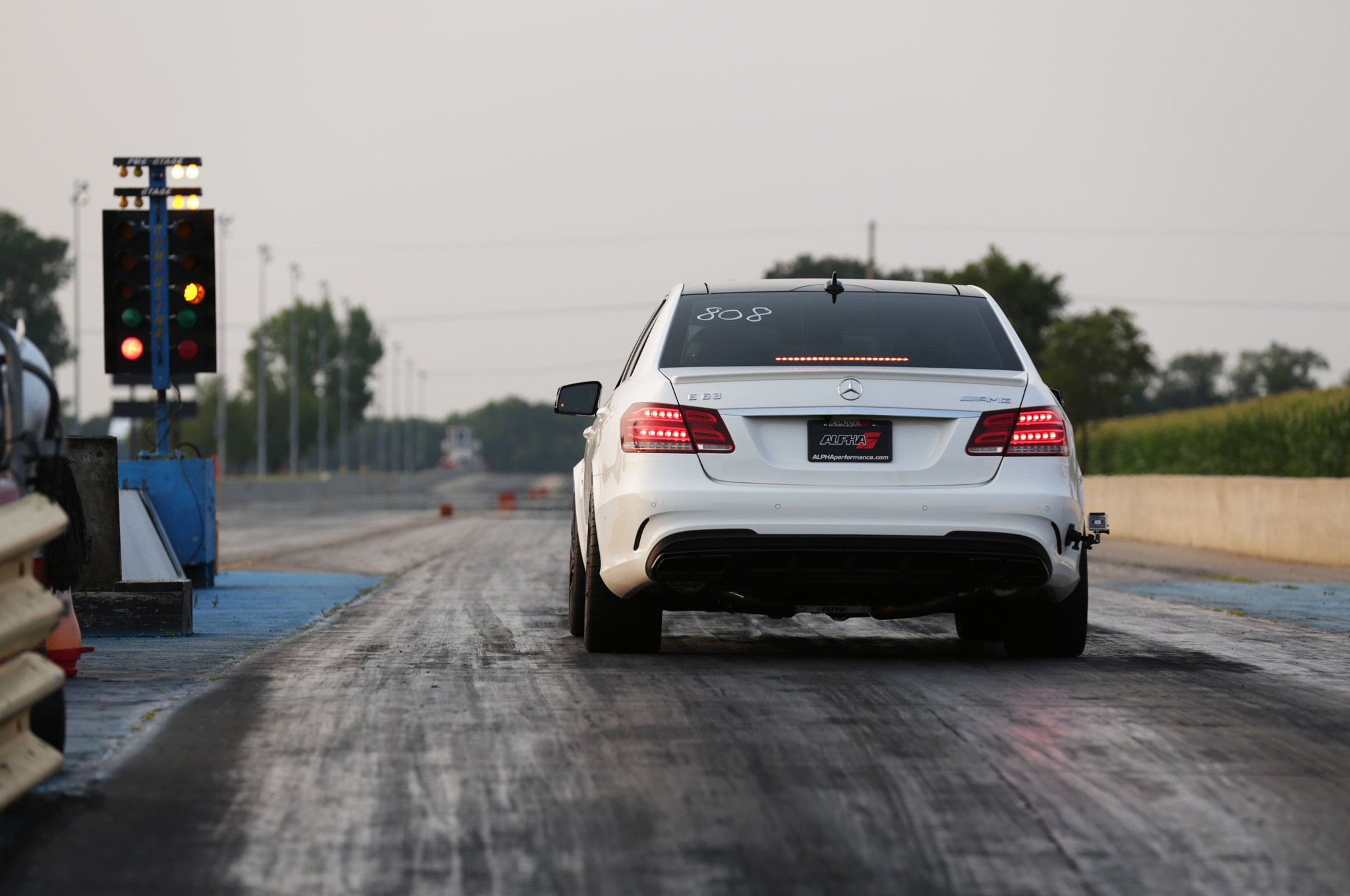 2014 Mercedes Benz E63 AMG Alpha 7 By AMS Performance Rear End Drag1