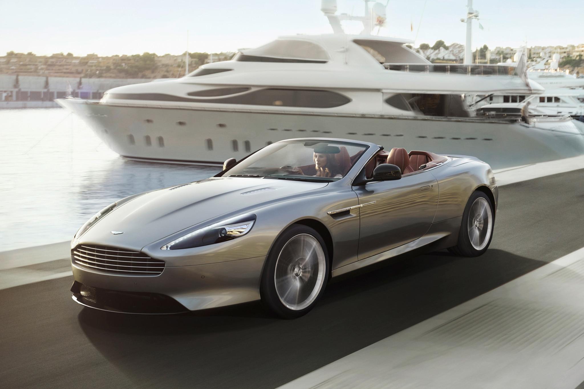 2014 Aston Martin DB9 Convertible Three Quarters View 11
