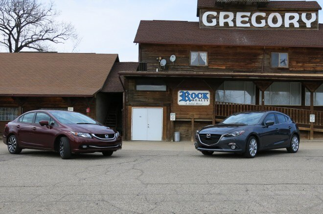 2014 Mazda 3 Four Seasons Mpg Run 11 With Civic