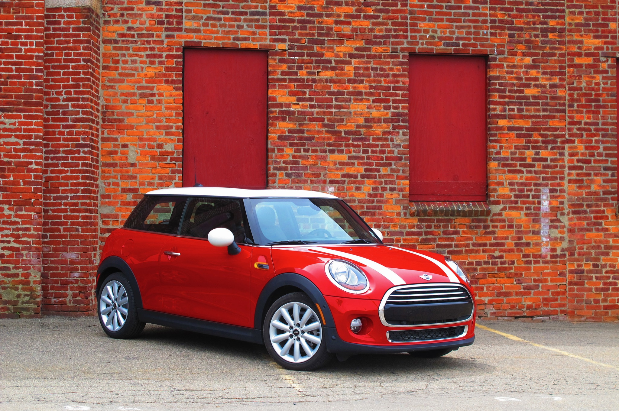 2014 Mini Cooper Front Three Quarters Brick Wall1