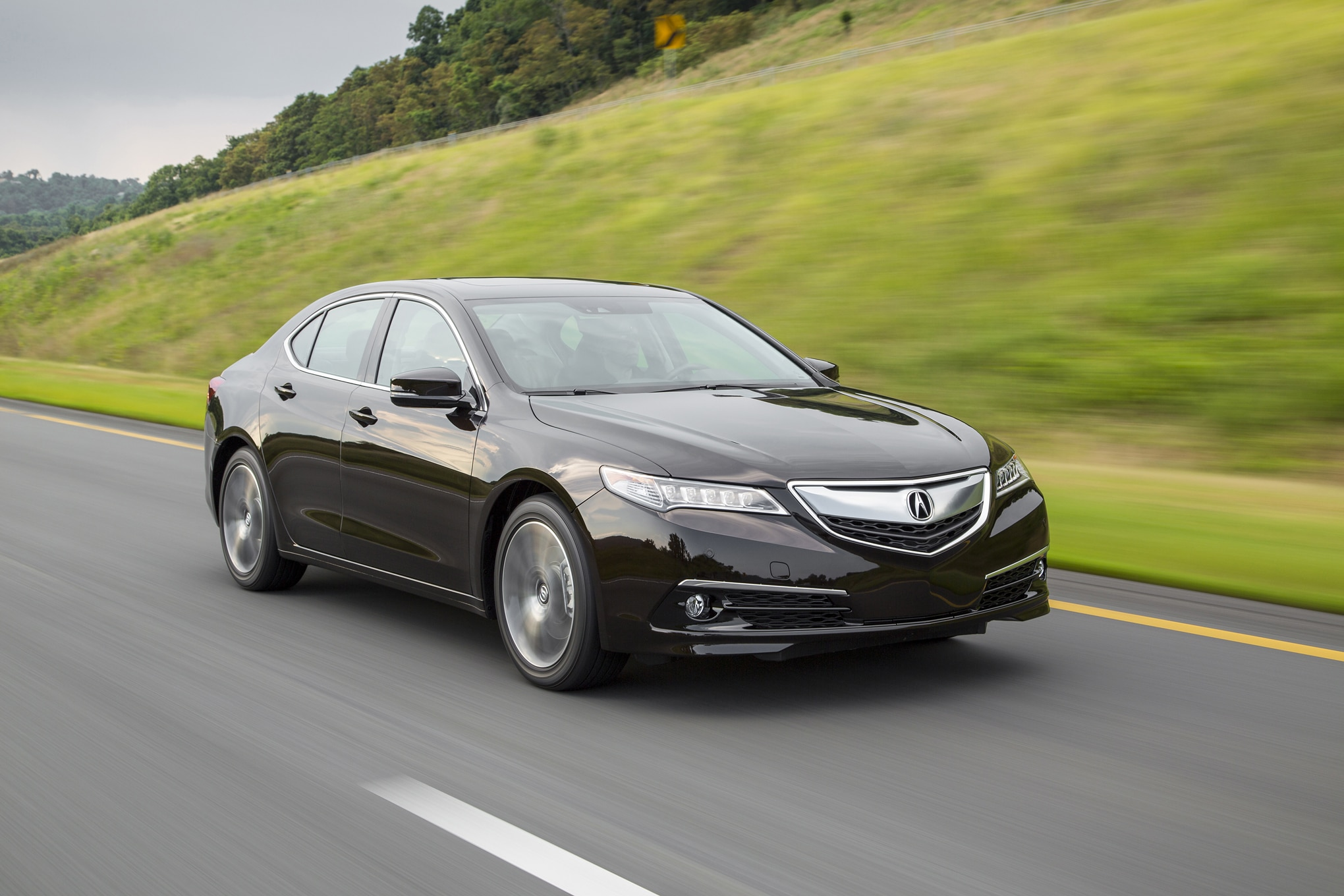 2015 Acura TLX 35 Front Three Quarters In Motion 021